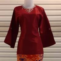 Atasan Kebaya Melayu Payet Warna Merah Maroon