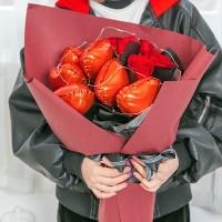 Balon Foil Love Hati [5 inch / 10 inch]