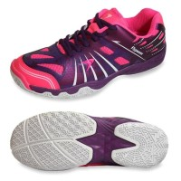 Sepatu Badminton Flypower White Control Black Pink Purple