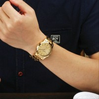 Jam Tangan WWOOR Unisex Luxury Gelang Rantai 8828 Gold Tahan CnzH279