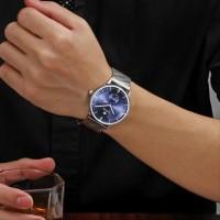 Wwoor 8808 Blue Stainless Jam Formal Pria - Gelang Rantai An CnzH333