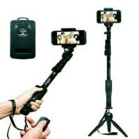 Paket Selfie Yunteng Tongsis Bluetooth YT-1288+Mini Tripod Yunteng