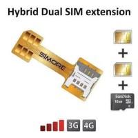 Flexible Adaptor Hybrid WIHUA Dual Simcard Adapter Sim card Converter