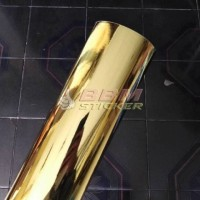 Bahan sticker Gold Chrome 45cm
