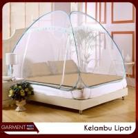 Kelambu Lipat Bolong Tempat Tidur Canopy Anti Nyamuk Ukuran 180x200