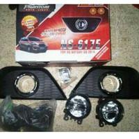 foglamp Datsun go lengkap dengan ring chrome