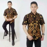 Baju Batik Pria Ukuran XXXL JUMBO BIG SIZE Batik Pria 3XL LD 120 CM
