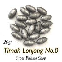 Timah Lonjong No.0 (Isi 10 butir)
