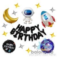Balon Dekorasi Astronaut To The Moon Set