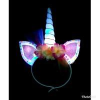 Unicorn Headband Nyala Lampu LED/ Bando Unicorn Menyala