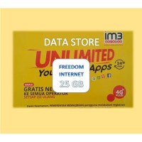Perdana Indosat Freedom INTERNET 25 GB