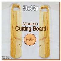Modern Cutting Board 8x40 cm Talenan kayu modern unik chopping board 7