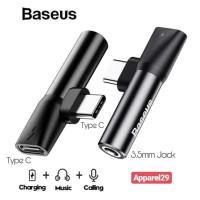 Splitter Baseus Audio Adapter USB C Jack AUX 3.5mm Type C ORIGINAL