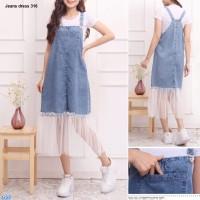 Rok Jeans Overall/Baju Kodok Overall-dress ov 316