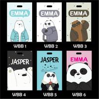 Luggage Bag Tag ID Card We Bare Bears Souvenir Ulang Tahun