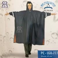 Jas Hujan Poncho Lengan Penguins LGX 777 Big Size RainCoat Tebal Ponco