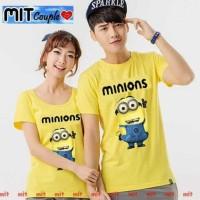 Promo Kaos Couple Minion - Baju Pasangan Couplean Termurah