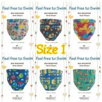 Popok Renang Bayi Size1 (7-11kg)   Clodi Swim Diaper Minikinizz