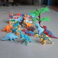 Mainan set hewan dinasaurus karet mini kebun binatang toys animal