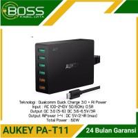 Aukey PA-T11 Charger 4 Ports AI Power & 2 Port QC 3.0 60watt Original