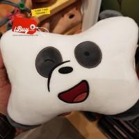 Miniso Cute We Bare Bears Panpan Panda Headrest Bantal Mobil White