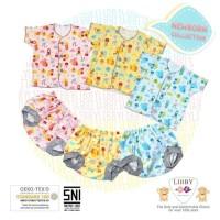 Liby - setelan baju baby lengan pendek 3-6 mount