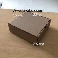 dus/kardus/kotak/box/packing/karton pizza/cake/kue/22cmx22cmx7cm
