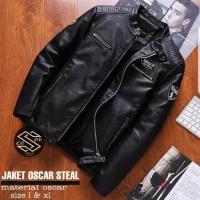 Jaket Pria - Jaket Oscar Steal semi kulit Premium Quality