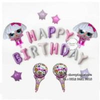 Paket Balon Dekorasi Ulang Tahun Birthday Tema LOL Surprise - Paket 02