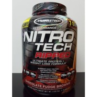 Nitrotech Ripped Muscletech 4 lbs Nitro tech 4lbs 4lb lb Whey Protein