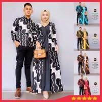 Maura Couple - Sania Ruffle Baju Batik Couple AzkanaOri Ndoro Jowi DNT