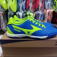 sepatu futsal mizuno neo shin biru lis stabilow