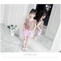 Setelan renda anak perempuan import/pakaian anak cewek fashion 3-10th