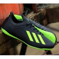 Sepatu Futsal Adidas Olahraga Hitam Hijau