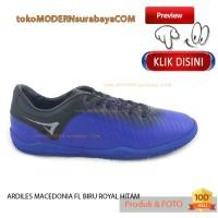 NO 36 ARDILES MACEDONIA FL B BIRU ROYAL HITAM Sepatu Olahraga Futsal