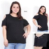 Super Jumbo Vega Batwing Hitam Baju Fashion Atasan Wanita Bigsize