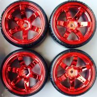 Velg ban RC drift 1/10 set upgrade chrome