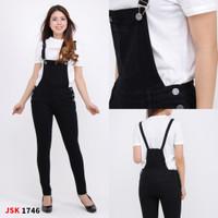 Jumpsuit Panjang Jeans wanita skinny Celana kodok cewek panjang - Hitam, 27