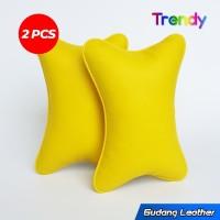 Bantal mobil kulit sintetis - Baper Series (Kuning)
