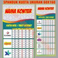 Spanduk Pulsa Banner Tabel Harga Kuota Konter 60x160