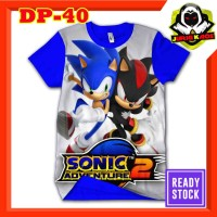 Kaos Sonic Adventure 2 Biru Baju Anak Murah Tokoh Game movies