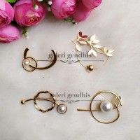 Bros Geometri Mutiara - Brooch Simple Pearl