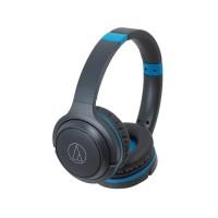 Audio Technica ATH S200BT / S200 BT Headphone On-Ear - Black Blue