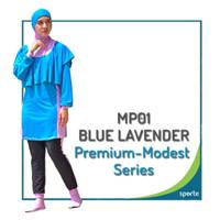 Baju Renang Muslimah Sporte Premium Quality - Biru, S