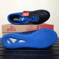 HOT SALE Sepatu futsal specs equinox black tulip blue 400772 original
