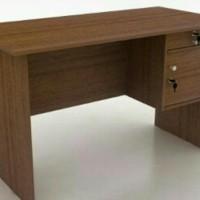 meja kerja kantor ketik tulis kayu 1/2 biro panjang 120 cm