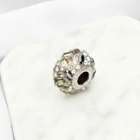 Perhiasan Liontin Kalung Charm Swarovski - Pave Noir by AR Hestia