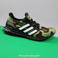 Bape x Adidas Ultra Boost Super Bowl Green Camo 100% Original Sneakers