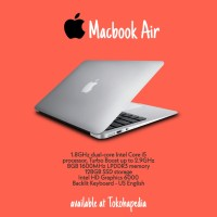 TERBARU Apple MacBook Air 2017 MQD32 13.3 Core i5,8G,128SSD - Silver