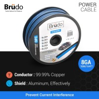 Brudo BL PC8 - Kabel Power 8 Awg (1 Meter)- Germany Technology